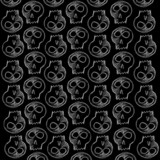 hand made black skull background