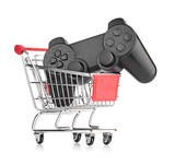 video game controller in trolley