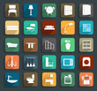 Furniture flat icons, Vector illustration modern template design