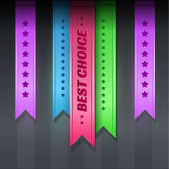 Set of vector ribbons - best choice