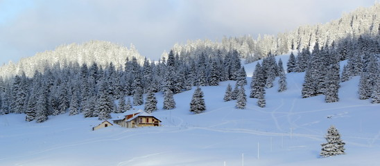 Jura mountain in winter, Switzerland