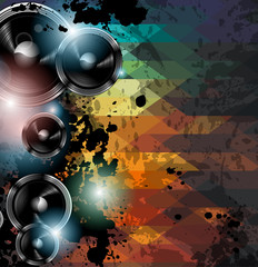 Disco club flyer template. Abstract background to use for music