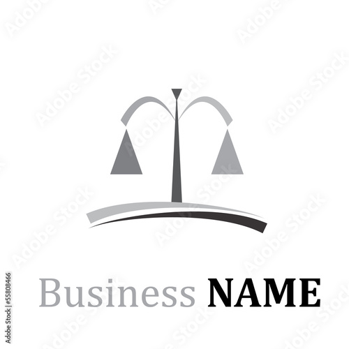 Vector logo lawyer