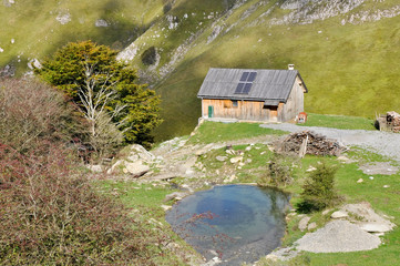 Mountain hut in the Pyrenees