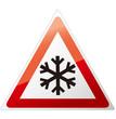 snow ahead warning sign Vector