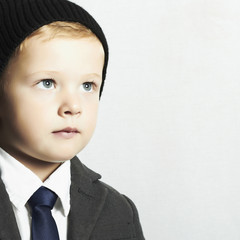 fashionable little boy in suit.style kid. fashion children