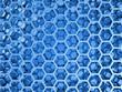 Blue shining honeycomb layers pattern