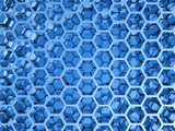 Blue shining honeycomb layers pattern