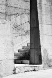 Abstract industrial architecture fragment with stairs