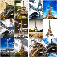 Tour Eiffel collage