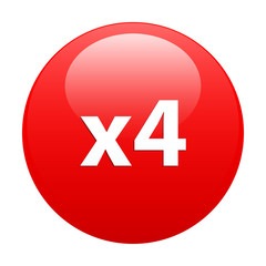 button accelerated web x4 red