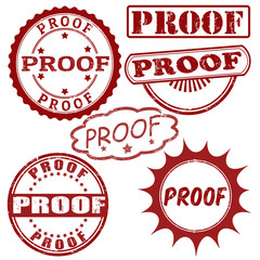 Set of proof stamps