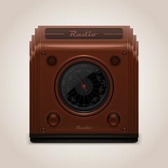 vector vintage radio