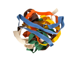 Collection of belts isolated