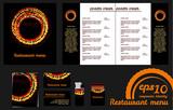 Restaurant menu design template and mockup poster