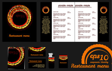 Restaurant menu design template and mockup
