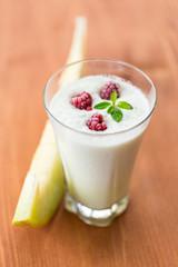 milk smoothie with fruit