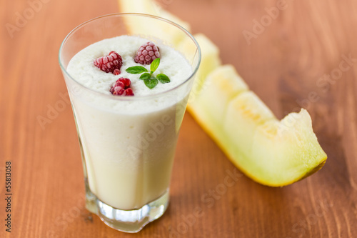 milk smoothie with fruit