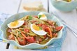 vegetables salad with eggs