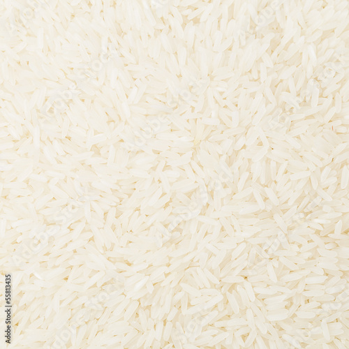 Uncooked white rice close up