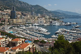 Panoramic View of Port Hercule and Monte Carlo, Monaco