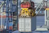 Containerterminal im Hafen von Rotterdam