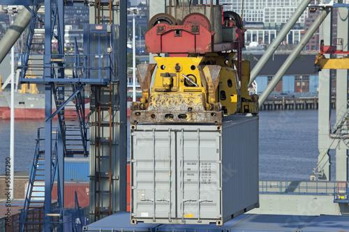 Containerterminal im Hafen von Rotterdam - 55817290