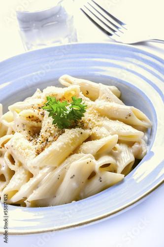 Penne pasta cream sauce