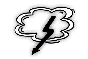 Gewitterwolke mit Blitz...
