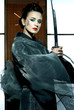 beautiful japanese kimono woman with samurai sword