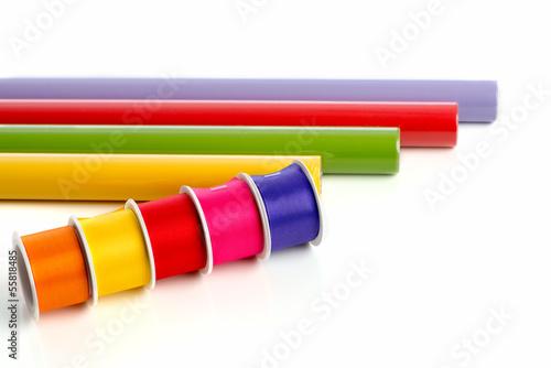 Geschenkpapier mit Schleifenband
