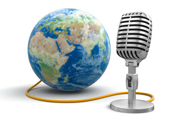 Globe and Microphone (clipping path included)