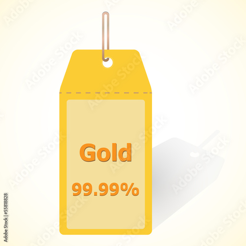 Gold 99.99 quality tag