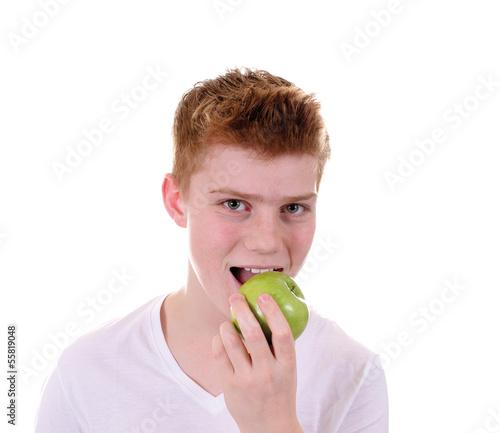 Apfel essen