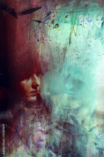 goddes fashion woman face fantasy color portrait