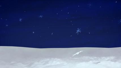 Snow with sky
