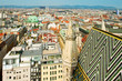 View Vienna rooftops from Stephansdom