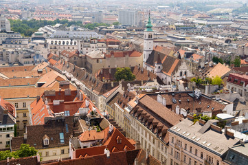 View of the Vienna from Stephansdom