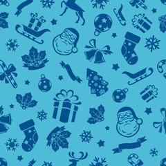 Christmas Symbols Seamless Background