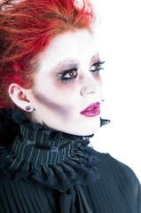 Closeup of a Zombie Woman