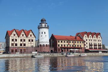 Fishing village, Kaliningrad cityscape, Russia