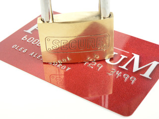 secure, bank card
