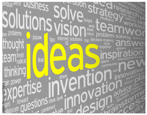 """IDEAS"" Tag Cloud (innovation solutions creativity strategy)"
