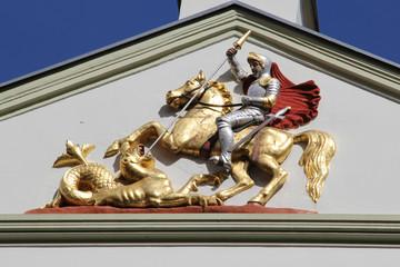 Relief des Drachentöters St. Jürgen