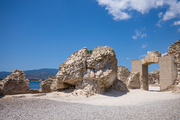 Rovine di Nora, antica città Romana e Fenicia, in Sardegna