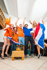 Ecstatic Dutch fans