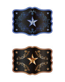 Blue and bronze buckle