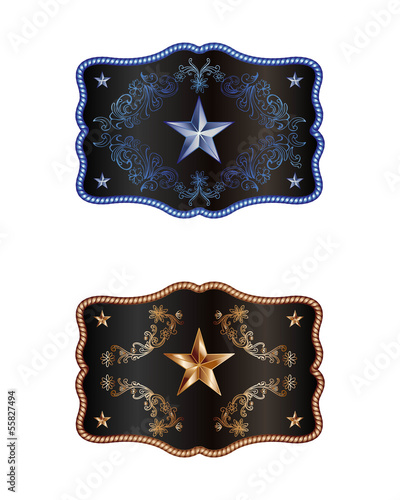 Blue and bronze buckle - 55827494