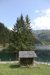 Hütte am Gosausee