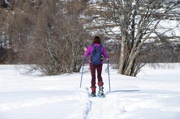 randonnée en raquette a neige